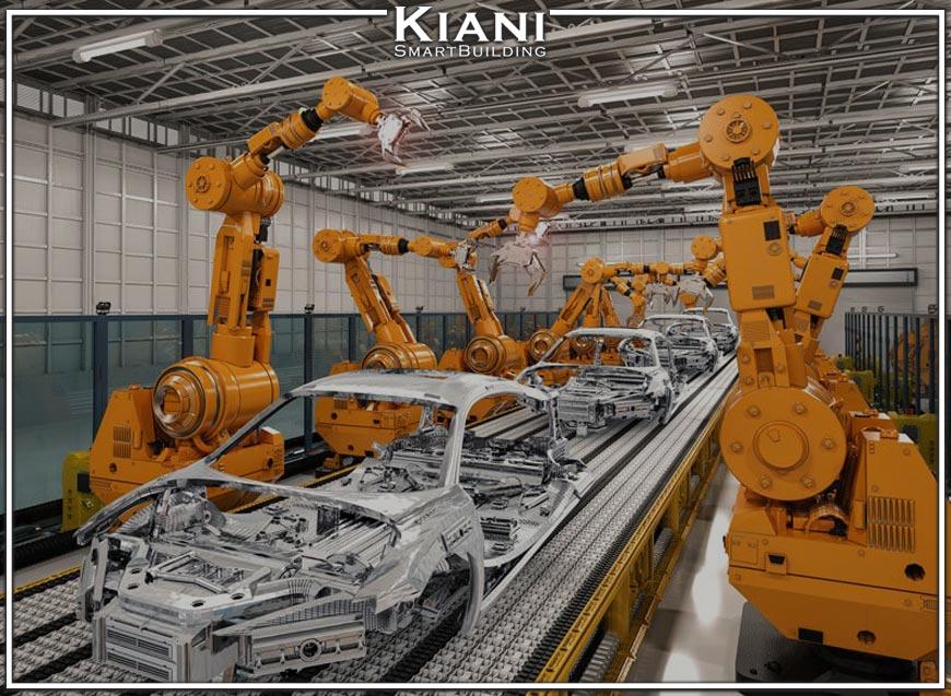 عکس ربات های خودروساز در صنعت خودروسازی توسط هوشمند سازی
